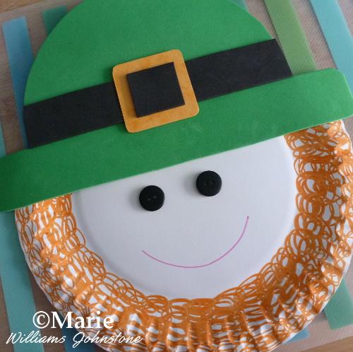 paper plate leprechaun St. Patrick's Day