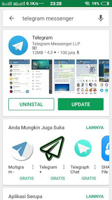 Jualan pulsa via telegram