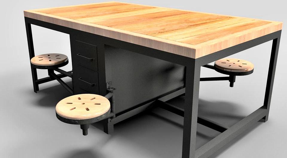 Awe Inspiring 118 Workbench 2 Free Download 3D Model Evergreenethics Interior Chair Design Evergreenethicsorg