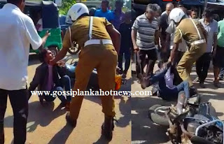 Traffic Police Beaten to Bike Drive in Dodangoda