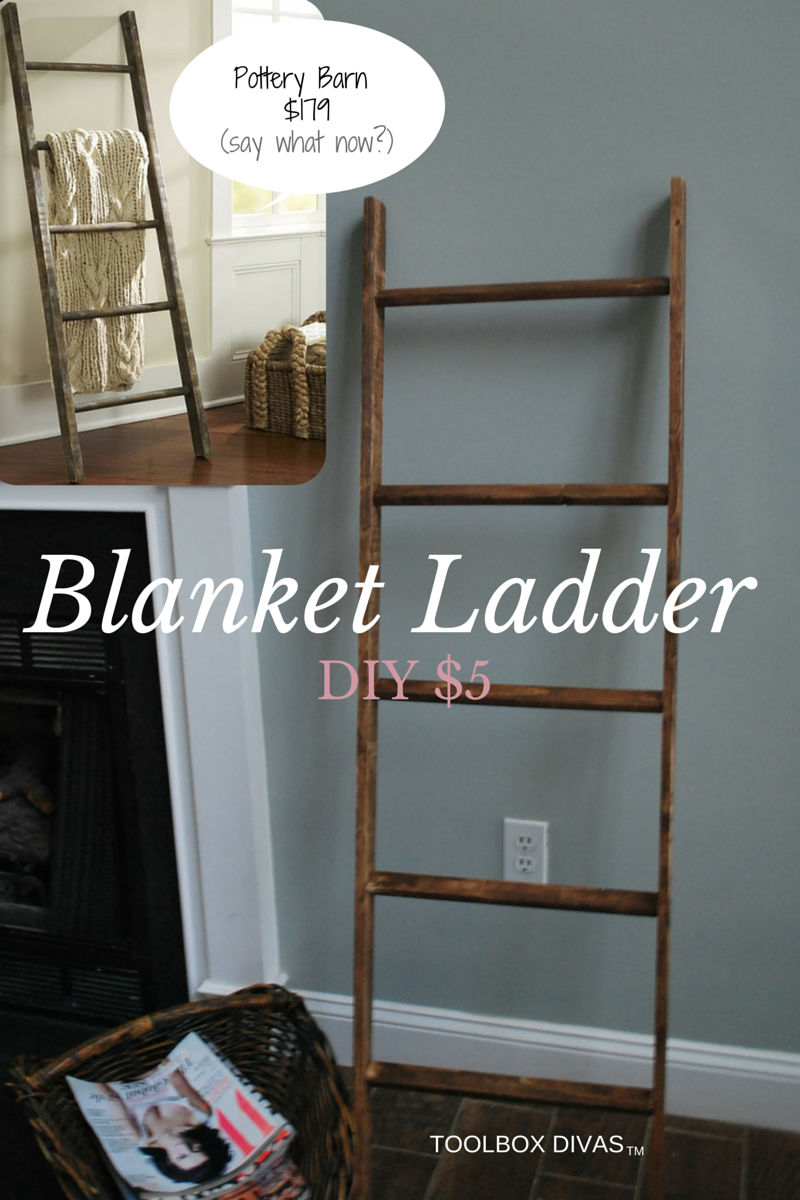 diy blanket ladder for a baby 39 s room. Black Bedroom Furniture Sets. Home Design Ideas