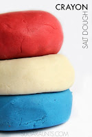 Patriotic crayon play dough