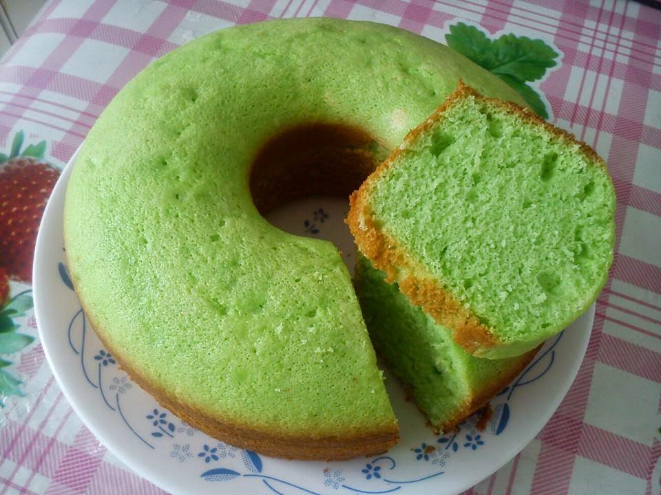 Resep Cake Kukus Praktis: Resep Bolu Pandan Santan Kukus Praktis