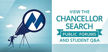 Viw the Chancellor Search Public Forums and Student Q&A