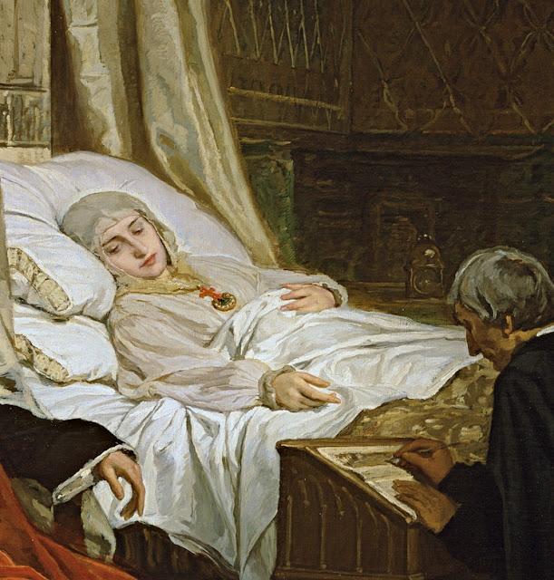 Rosales, Doña Isabel la Católica dictando su testamento