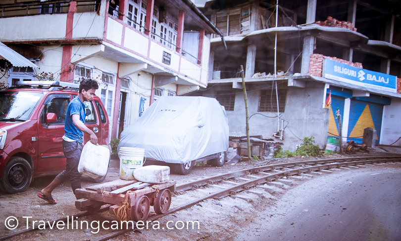Above photograph shows how the rail track is used during the free time. I loved the way these rail-tracks are part of everybody's life in Darjeeling and you can't ignore them :)  Places to eat and things to try near Mall Road in Darjeeling -