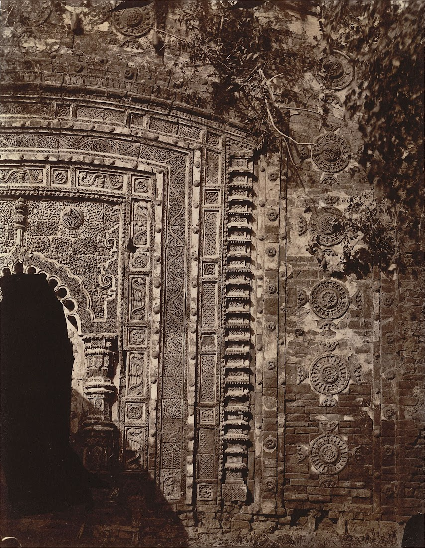 Sculptured Façade around the Doorway of the Radharaman Temple at Village of Para, Manbhum District (Now in Purulia District), Bengal - 1872