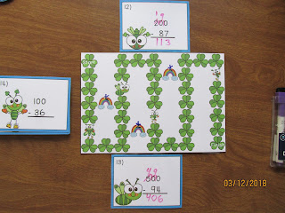 St. Patrick's Day Bugs Subtracting Across Zeroes