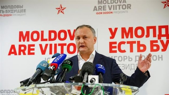 Moldova's pro-Russian candidate Igor Dodon declares victory in presidential runoff