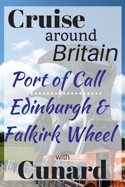 Cunard Cruise around Britain Edinburgh port of call cruise Europe Queen Elizabeth