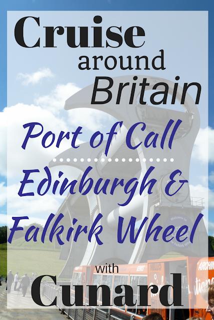 Cunard Cruise around Britain Edinburgh port of call cruise Europe Queen Elizabeth