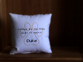 Always by my side even in spirit Personalized Pet Loss Pillow | personalized to match your sweet furry friend | Belinda Lee Designs