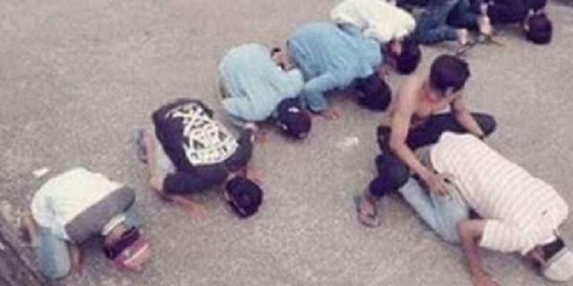 10 Pemuda Yang Lecehkan Shalat Akhirnya Tertangkap