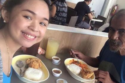 Pengemis Diajak Makan Oleh Wanita Cantik, Begini Reaksinya