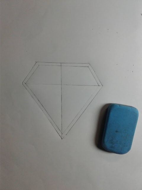 How to Draw a Superman Logo outline