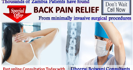 Special Offer on Laser Spine Surgery in India for Patients from Zambia