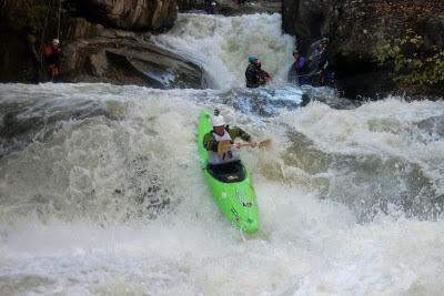 Sliding towards the finish line, Chris Baer, Green River Narrows, Race, 2012, NC, North Carolina,
