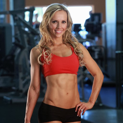 fit girl in gymnasium