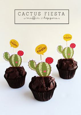 free printable cactus cupcake toppers
