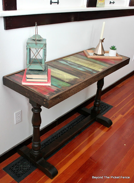 use reclaimed wood to make a boho rustic table