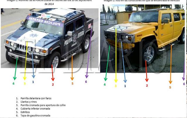 Pagan más de 300 mp por Hummer desmantelada y usada como piezas para patrulla