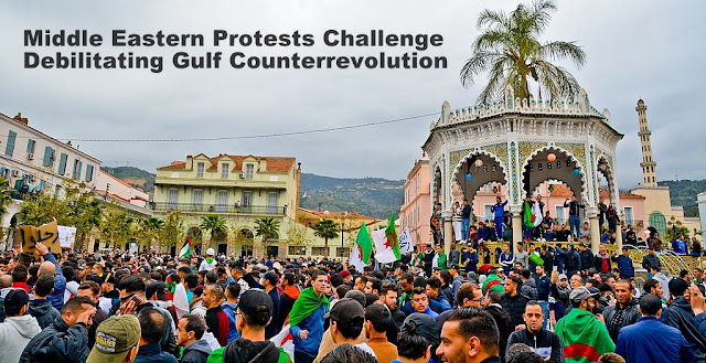 Cover Image Attribute: Protesters in Blida, Algeria on March 10, 2019,/ Photo by Fethi Hamlati/Wikipedia