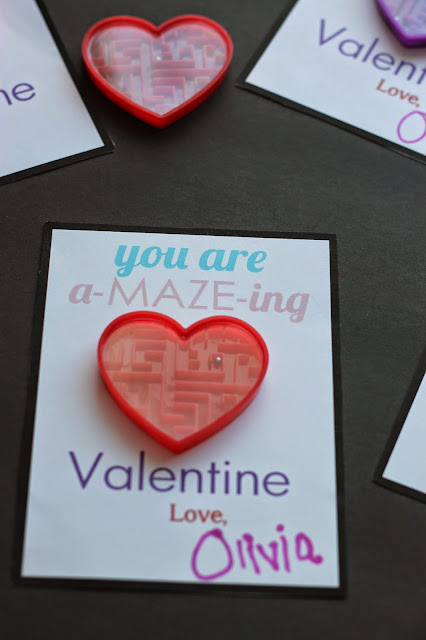 Printable Maze themed valentines @michellepaigeblogs.com