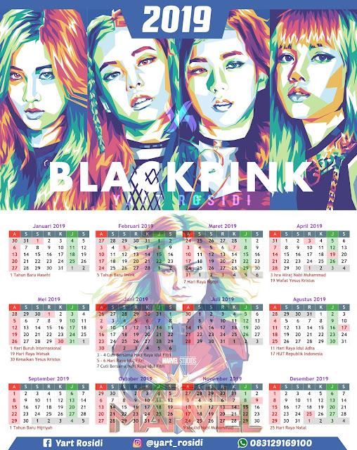 Kalender Tahun 2019 KPOP Blackpink