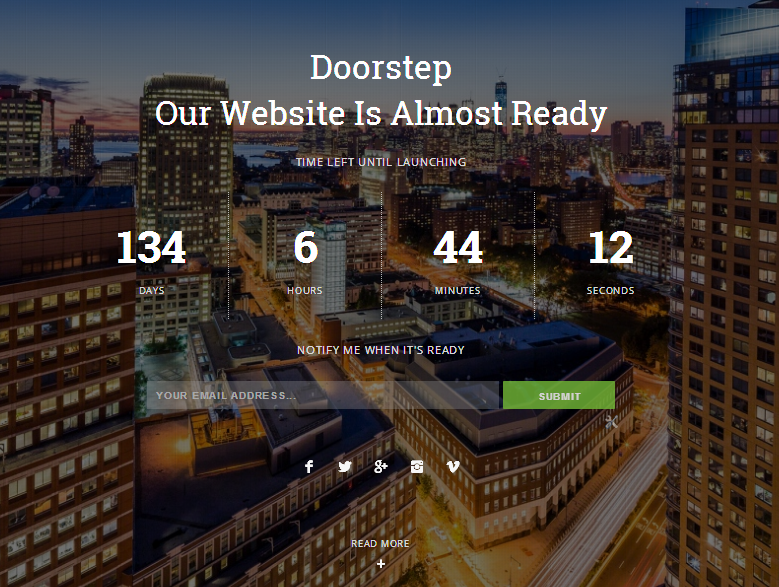 doorstep coming soon responsive blogger template blogger