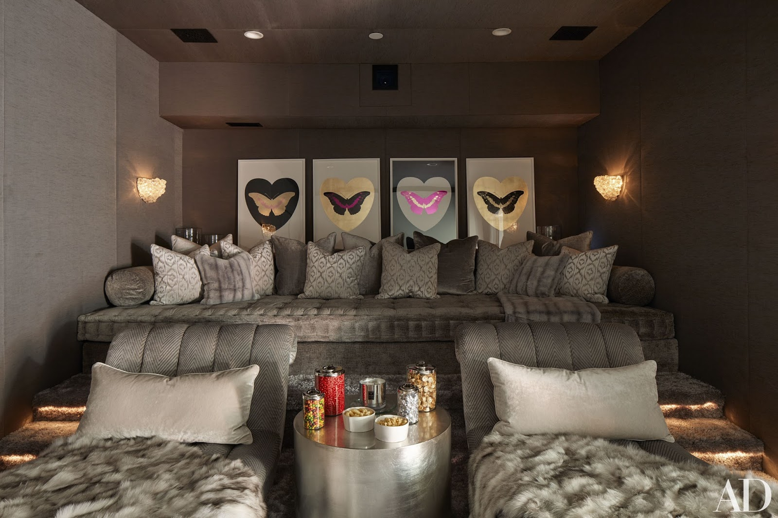 beautiful cinema room