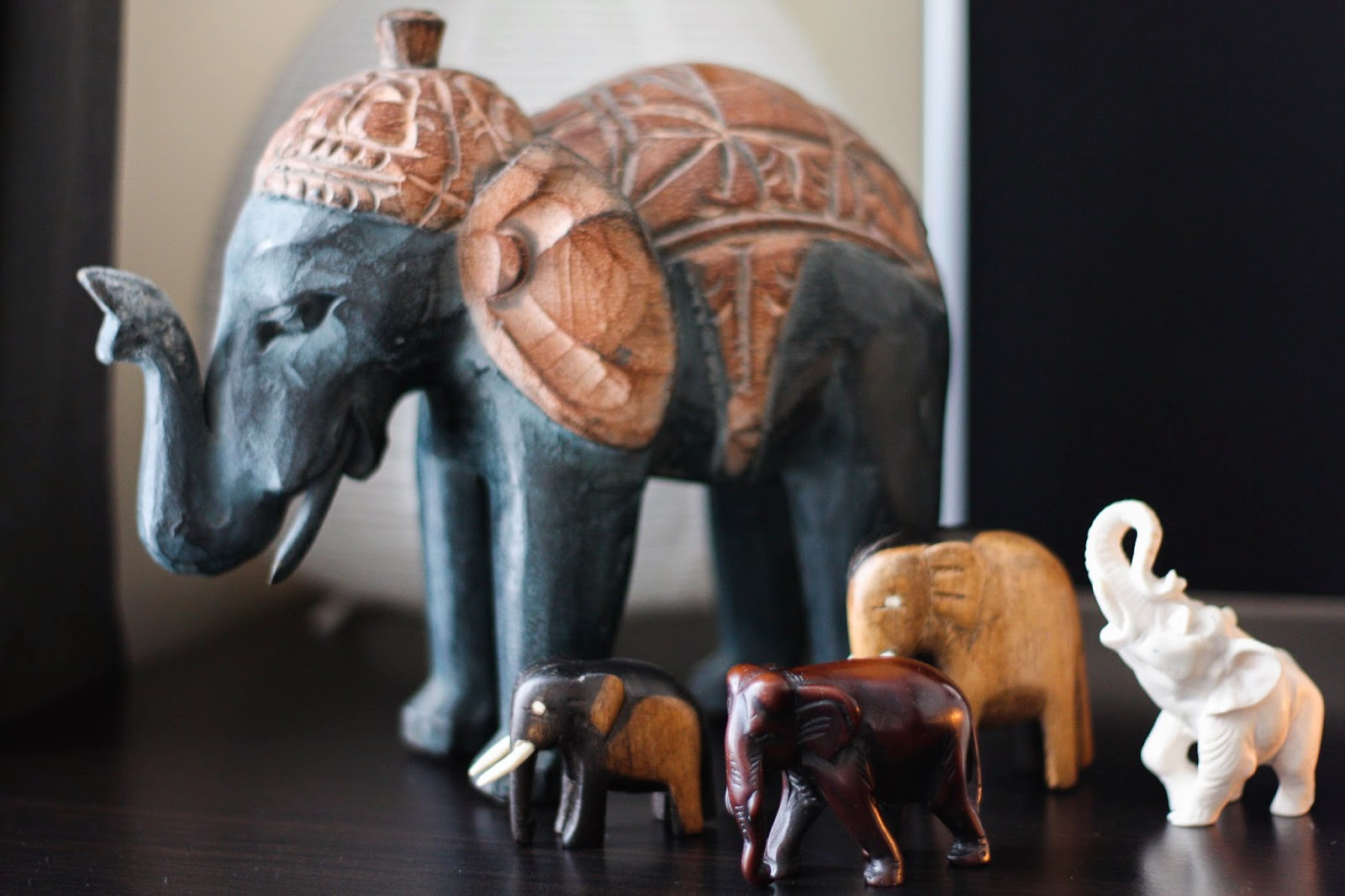 Lucky elephants home decor
