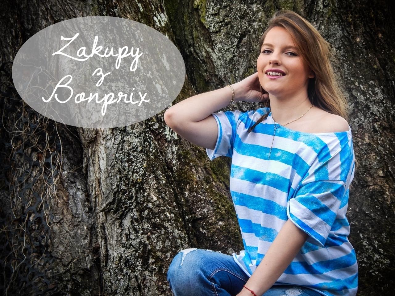 naglowek haul zakupy bonprix bluzka w paski ubrania dziewczyna fashion style moda