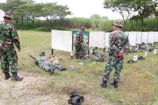 Pelihara Kemampuan Menembak Kodim 0805/ Ngawi Lakukan Latihan menebak