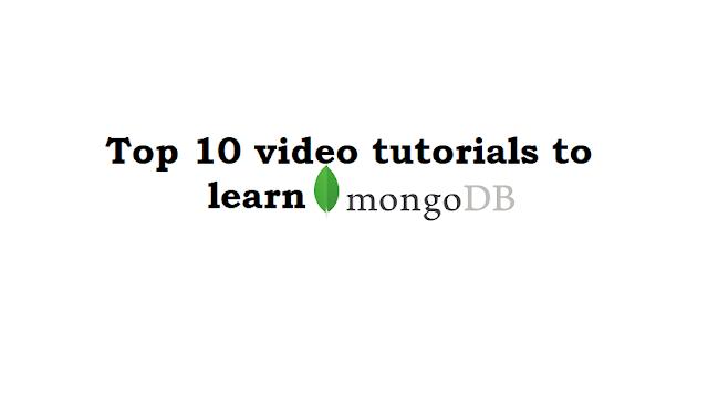 Top 10 Best MongoDB video tutorials
