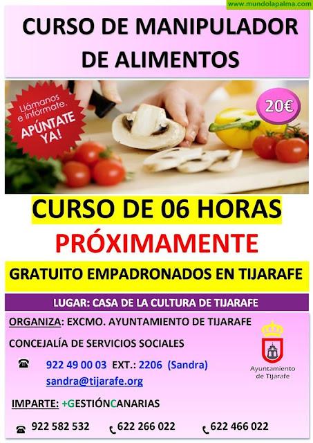 Curso de Manipulador de Alimentos en Tijarafe
