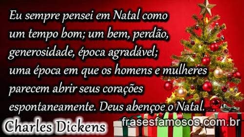 mensagem de natal - Charles Dickens