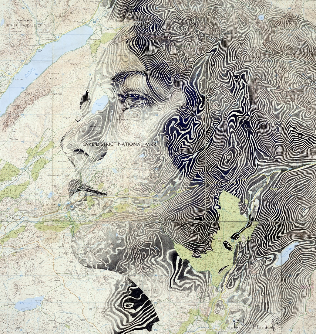 05-Lake-District-Edward-Fairburn-Maps-and-Cartography-linked-to-Portrait-Drawings-www-designstack-co