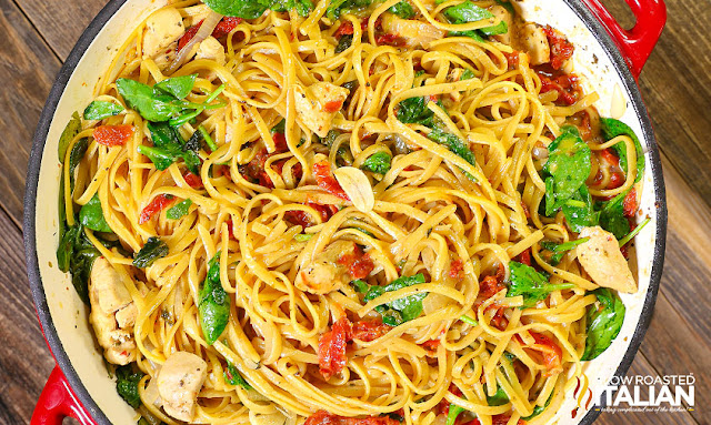 http://www.theslowroasteditalian.com/2016/10/one-pot-cheesy-Italian-Pasta-Chicken-recipe.html
