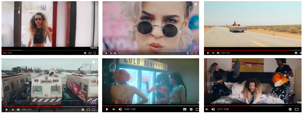 1 A Shot That Links The Lyrics And Visuals In Opening Of Ella Eyre Comeback Each Actor Actress Are Shown Walking Through Door At Same