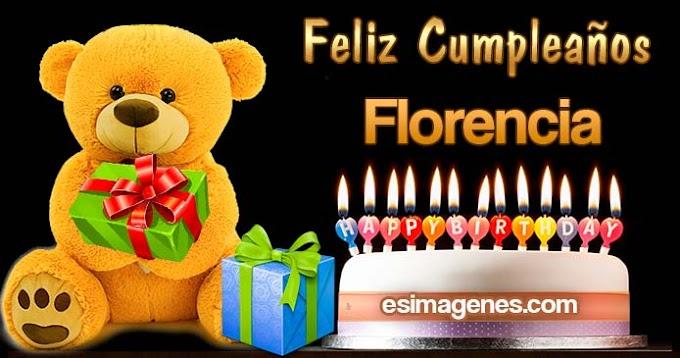 Feliz cumpleaños Florencia