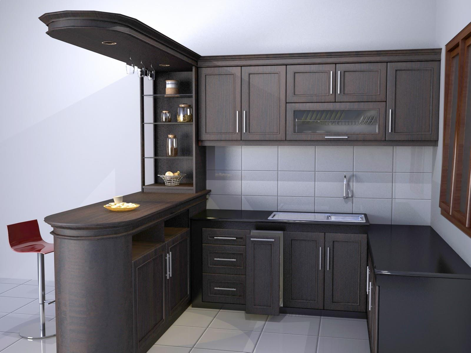 model kitchen set aluminium