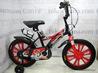 1 Sepeda Anak Pliko 16BEX Cricket Go Glow 16 Inci