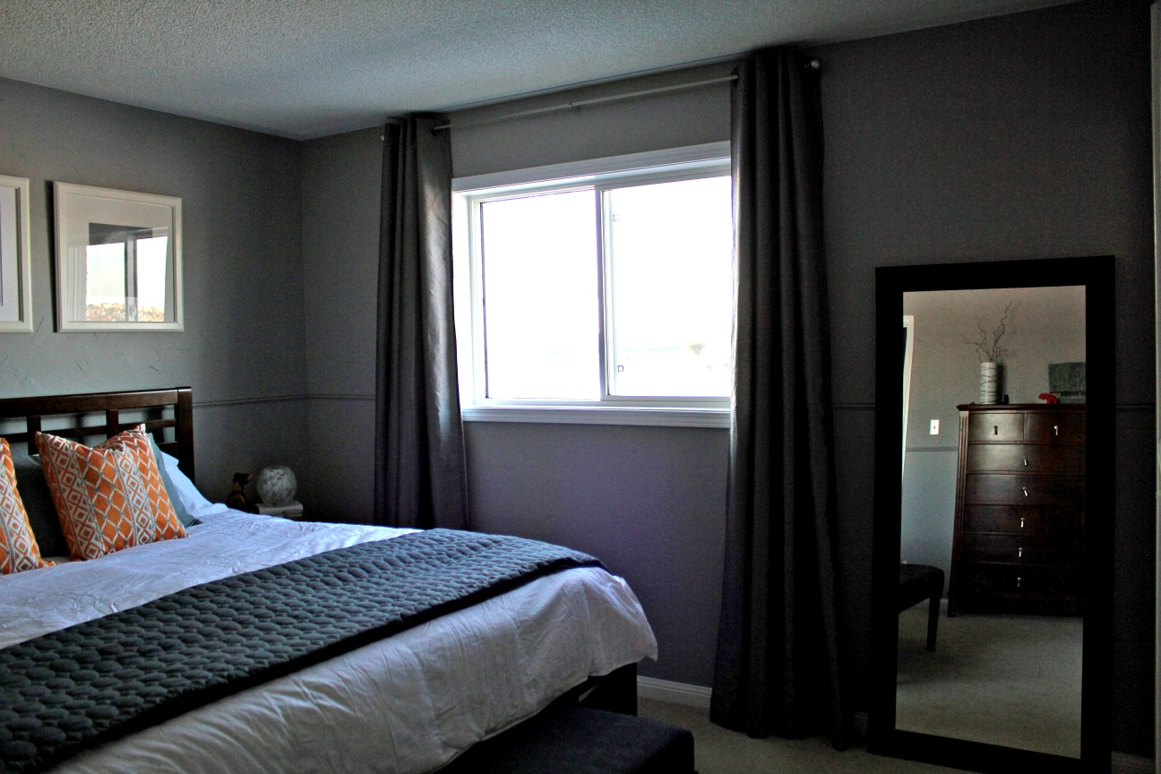 Black And Grey Bedding And Curtains Turtles And Tails Master Bedroom Before And After