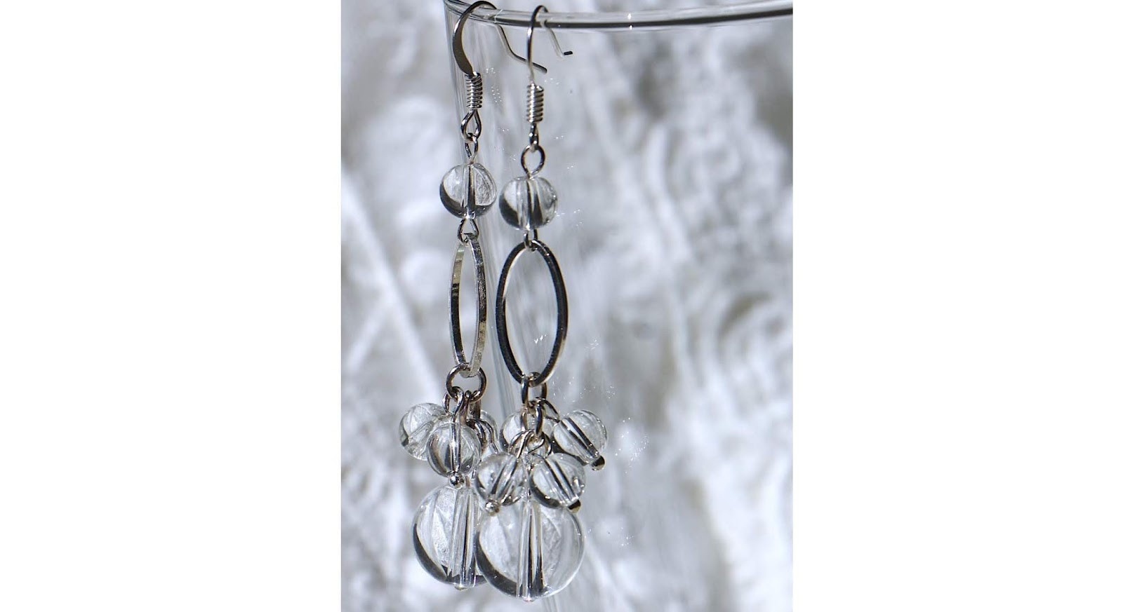 water beads cluster earrings