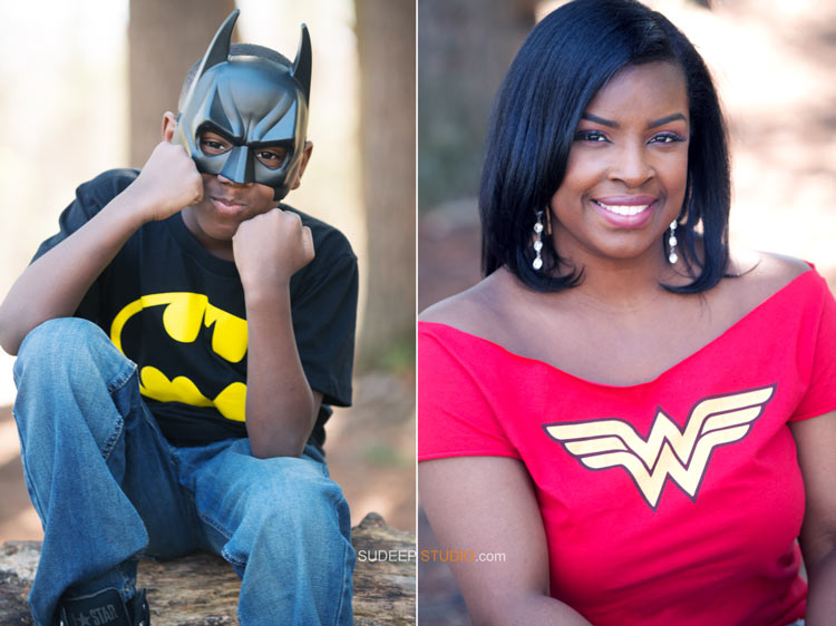 Super Hero Costume Family Portrait Photography - Ann Arbor Photographer Sudeep Studio.com