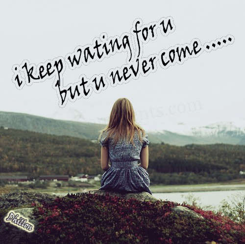 Boy Waiting For Girl Quotes: HD Wallpapers: Sad Girls