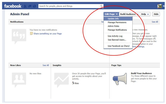 How to make someone admin on my fb page
