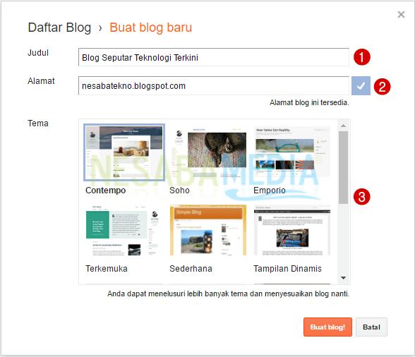 Cara Hade Membuat Blog Untuk Pemula