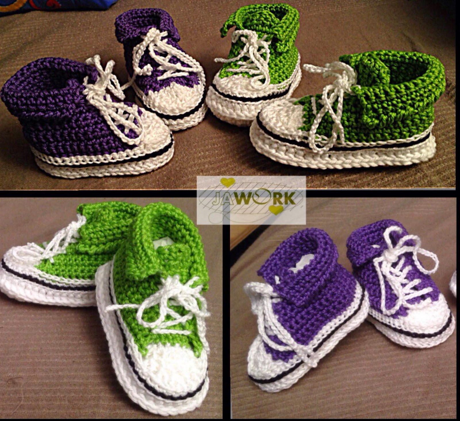 Jawork Handmade With Love Baby Chucks Häkeln