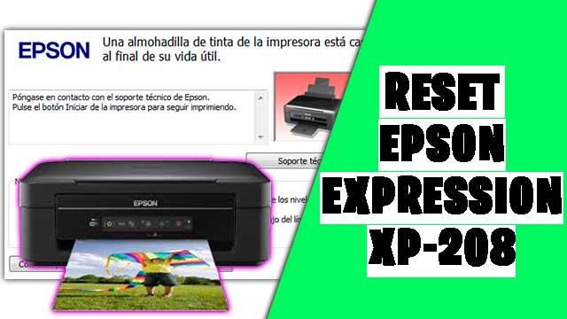 resetear impresora EPSON Expression XP-208